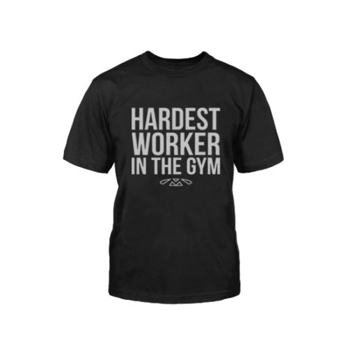 Muscleology Hardest Worker in the Gym Tee